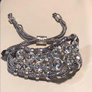 Jewelry - Pull string fabric bracelet